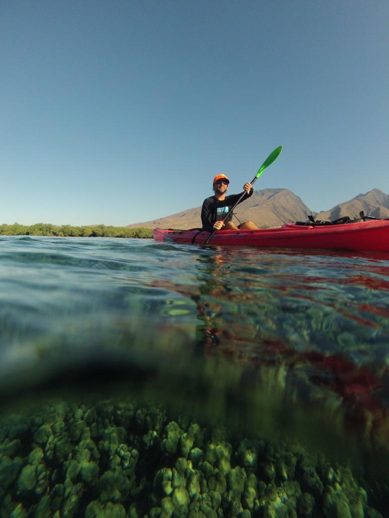 Kayaker in Rash Guard