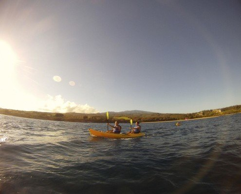 honolua yellow kayaks offshore