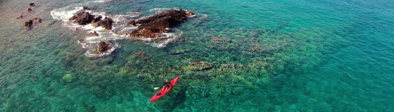 Makena Red Kayak Aerial
