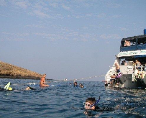 Molokini Boat Snorkelers