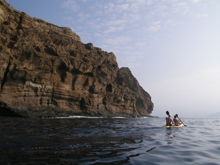 Molokini kayak backwall