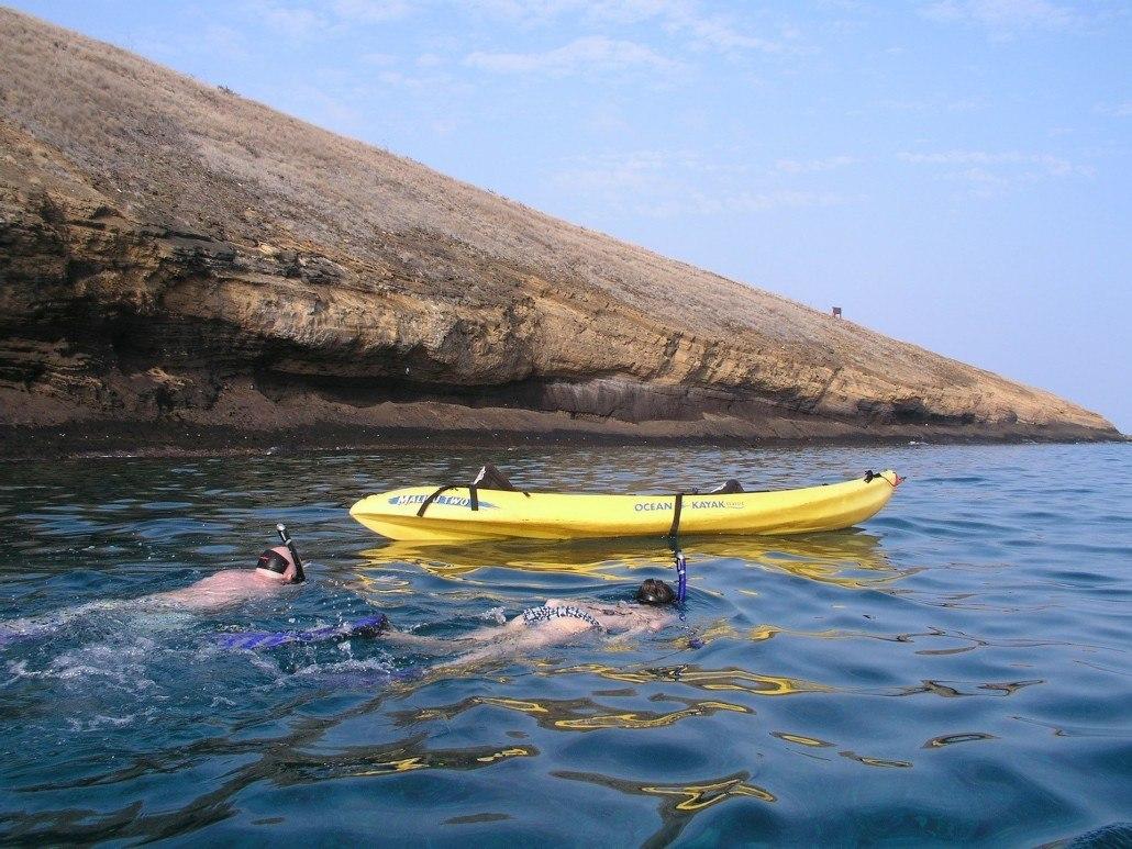 Molokini Kayak Snorkelers