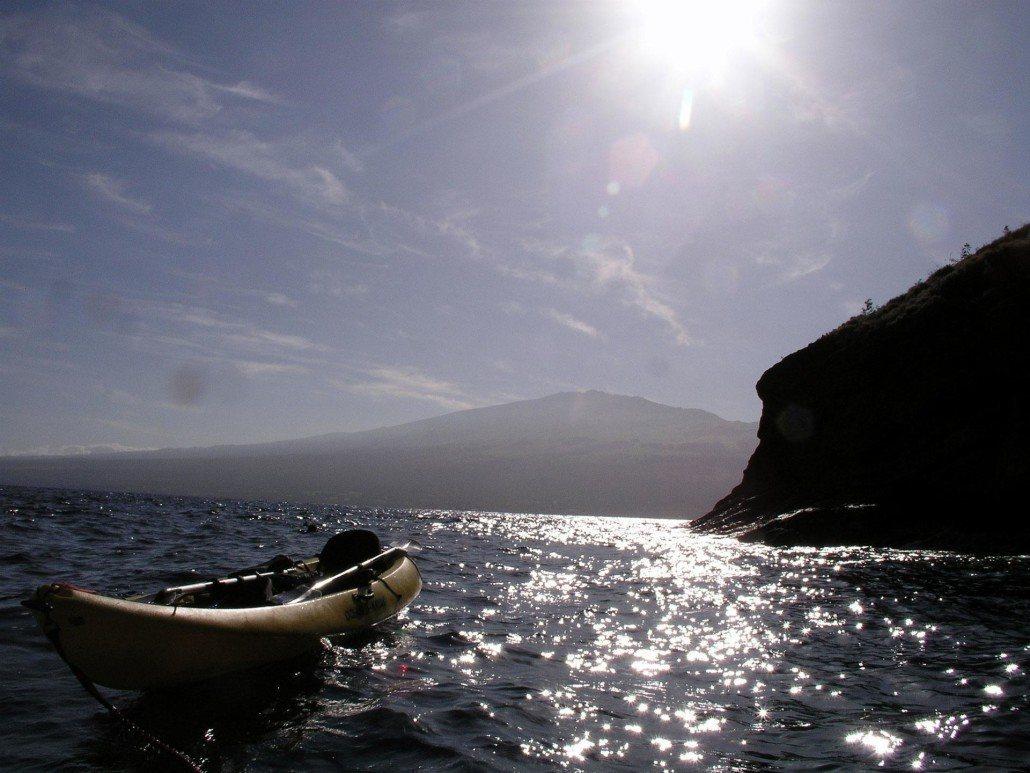 Molokini Kayak Empty Backwall