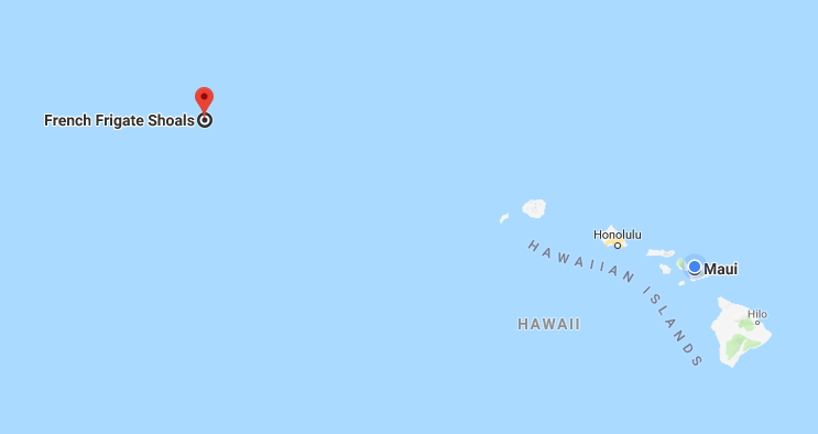 Map of French Frigate Shoals, Hawaii