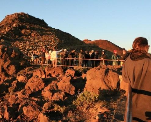 haleakala summit sunrise people